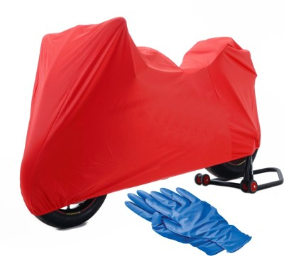 Time 1 TVS Max Red Cover, 1 With Rubber Gloves Combo