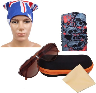 Sushito Rider Bandana and Sunglass Fashion Combo Multi Use Headwrap Combo