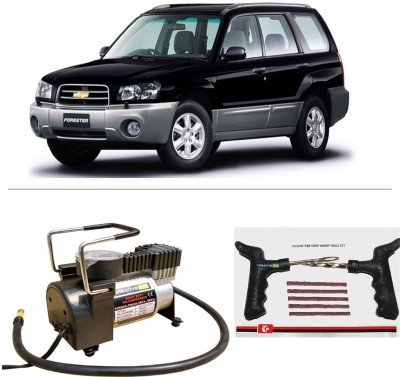 CreativeVia AutoCut-OFF Premium Metal Air Compressor With Tyre Punture Repair Kit For Chevrolet Forester Combo