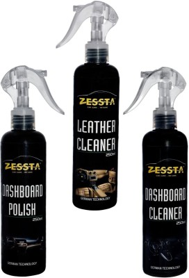 Zessta Zessta 1 Leather Cleaner & 1 Dashboard Polish And 1 Dashboard Cleaner Combo