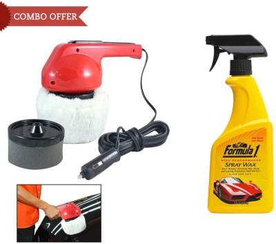 Coido 1 6003 Car Polisher, 1 Formula 1 Car/Bike Spray Wax Polish-473ml Combo
