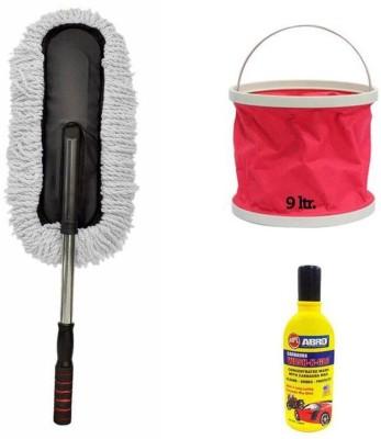 Speedwav 1 Car Cleaning Kit, 1 Microfiber Duster, 1 Shampoo Combo