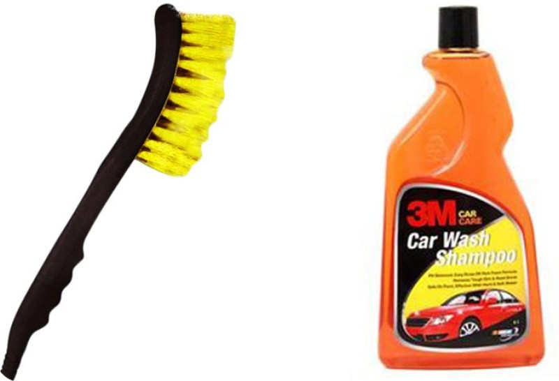 3M 1 Shampoo(500 Ml), 1 2 In 1 Cleaning Brush With Water Spray Combo