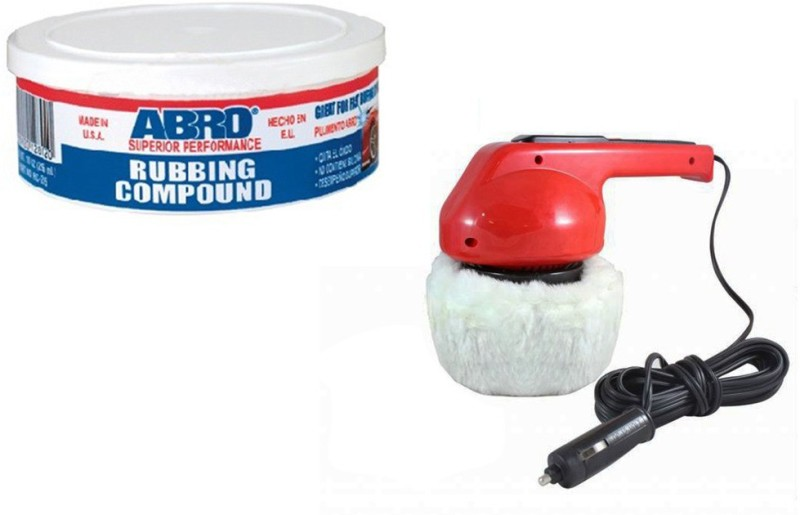 Abro 1 Car Polisher, 1 Abro Rubbing Compound RCH-60 Combo