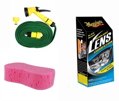 Meguiar's 1 Meguiars Headlight Correction, 1 Magic Sponge, 1 Spray Gun, 1 Spray Gun Combo