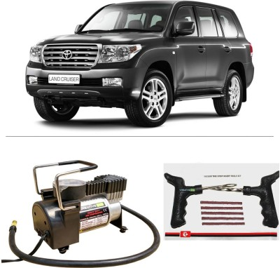 CreativeVia AutoCut-OFF Premium Metal Air Compressor With Tyre Punture Repair Kit For Toyota Land Cruiser Combo