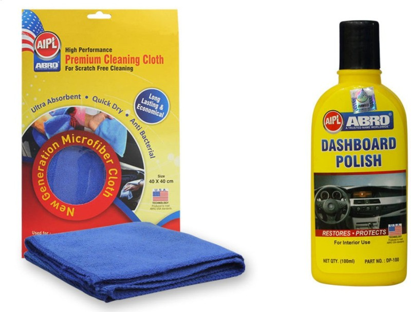 Abro 1 Car Polish, 1 Microfiber Cloth Combo