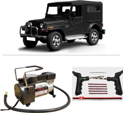 CreativeVia AutoCut-OFF Premium Metal Air Compressor With Tyre Punture Repair Kit For Mahindra Thar Combo
