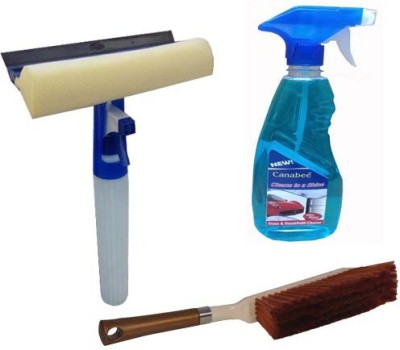 Canabee 1 Spray Gun, 1 Glass Cleaner 500 Ml, 1 Cleaning Brush Forcar/Bike Combo