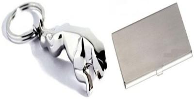 Retina 1x Jaguar KeyChain,1x 10 Card Holder11 Combo