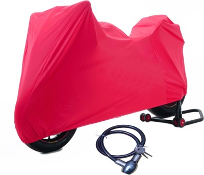 Time 1 Royal Enfield 350 Twin Spark Maroon Cover, 1 With Helmet Lock Combo