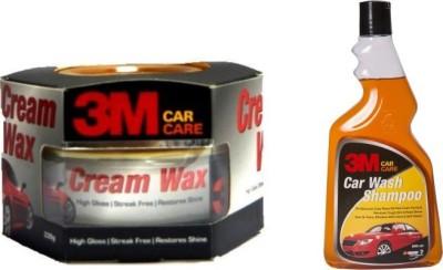 3M 3M Car Care Car Shampoo Car Washer 500ml, 3m Microfibre Cloth Combo