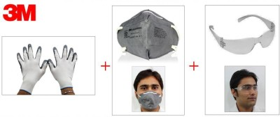 3M 1 Stylish Bike Riding Goggles, 1 RidingGloves, 1 Anti DustFace Mask Combo