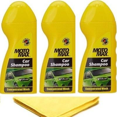 MotoMax 3 Motomax Car Shampoo, 1 Microfiber Car Cloth Combo
