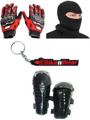 BikeNwear 1 Fox Raptor, 1 Probiker Gloves Red-L, 1 Balaclava Face Mask, 1 Keyring Combo