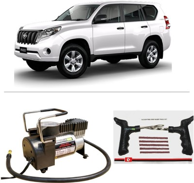 CreativeVia AutoCut-OFF Premium Metal Air Compressor With Tyre Punture Repair Kit For Toyota Land Cruiser Parado Combo