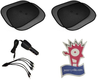Speedwav 1 Combo of Titoni 6-in-1 Car Charger, 1 4 Sun Shades, 1 Hanging Air Perfume Combo