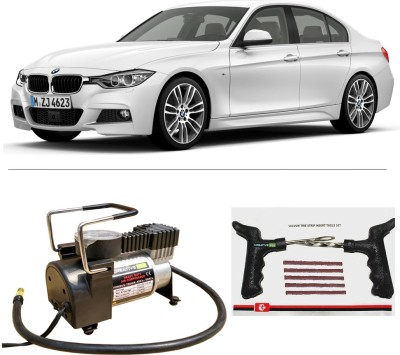CreativeVia AutoCut-OFF Premium Metal Air Compressor With Tyre Punture Repair Kit For BMW 3 Series Combo