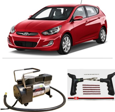 CreativeVia AutoCut-OFF Premium Metal Air Compressor With Tyre Punture Repair Kit For Hyundai Accent Combo