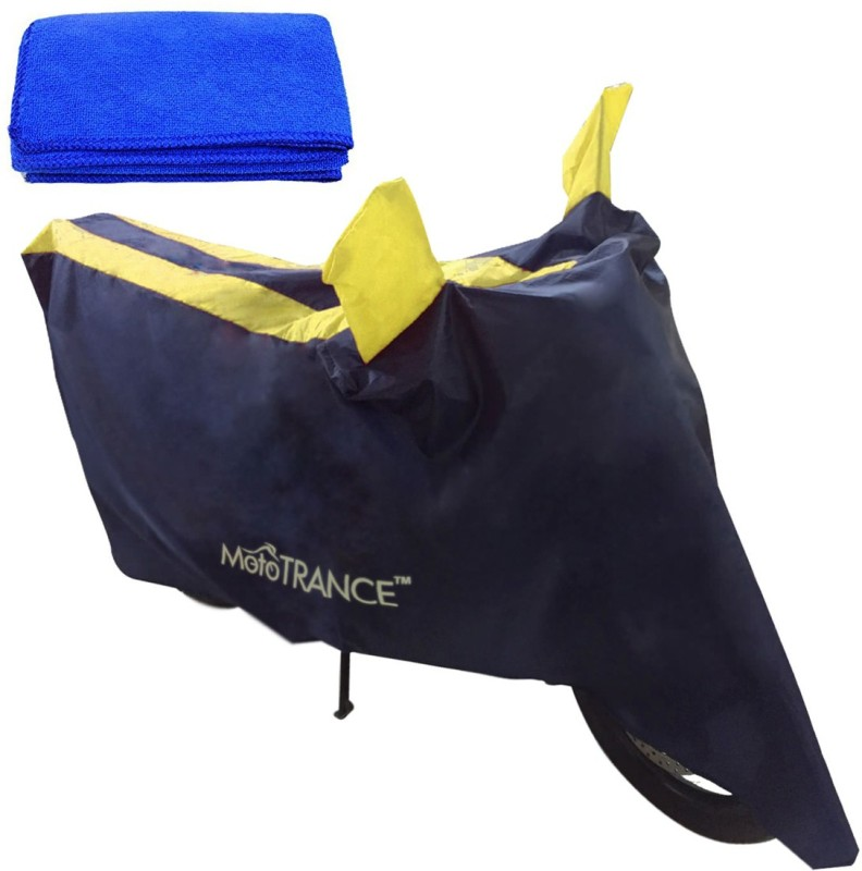 Mototrance 1 Bike Body Cover, 1 Microfiber Cloth Combo