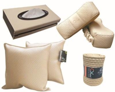 Kozdiko 2 car cushion, 2 neck rest, 1 tissue box, 1 steering box Combo
