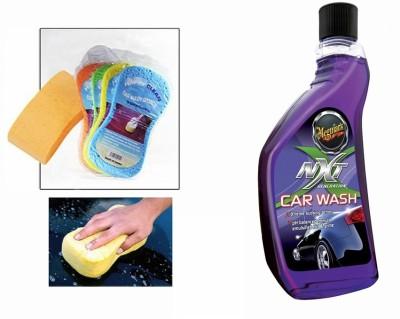 Meguiar's 1 Meguiars NXT Generation Car Wash Shampoo-532ml, 1 Magic Sponge Combo