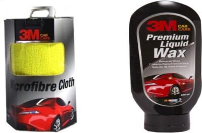 3M Microfibre Cloth 3packs, 3m Premium Liquid Wax Combo