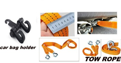 Mycar 1 Tow Rope and Car Bag Holder combo Combo