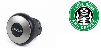 Black Label 1 Car Bumper Sticker-I LOVE GUNS, 1 i-Pop Steering Knob-Silver Combo