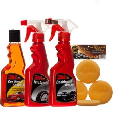 3M Shampoo, Tyre Dresser, DashBoard, Applicator pad Combo
