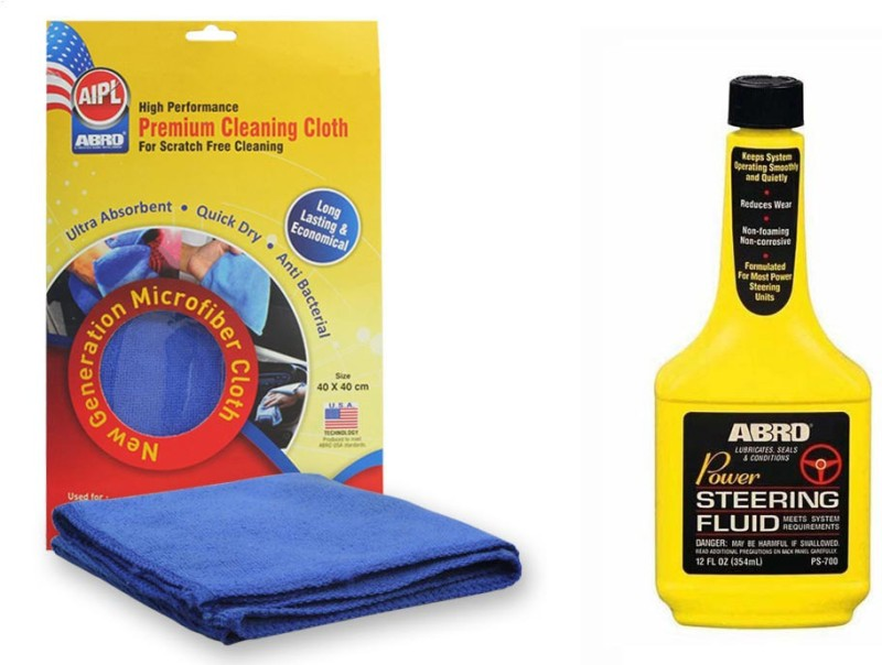 Abro 1 Power Steering Fluid PS700 (354 ml), 1 Microfiber Cloth Combo