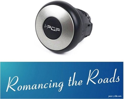 I-Pop 1 Car Bumper Sticker-Romancing The Roads, 1 Steering Knob-Silver Combo