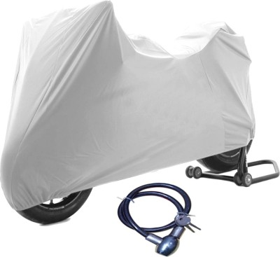 Time 1 TVS Max Silver Cover, 1 With Helmet Lock Combo