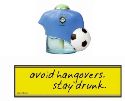 Speedwav 1 Combo Of Car Bumper Sticker-AVOID HANGOVERS, 1 Football Perfume-Blue Combo