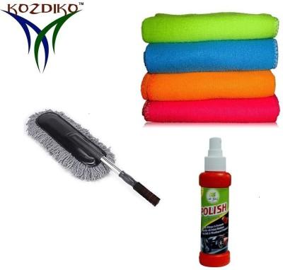 Kozdiko Premium Quality Polish 120ML,4 Microfibre Cloth,1 Microfiber Duster Combo