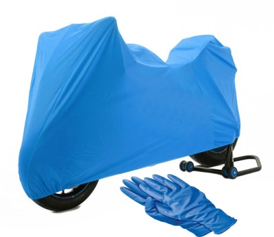 Time 1 TVS Max Blue Cover, 1 With Rubber Gloves Combo