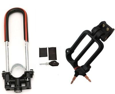 AutoStark Bike Front shocker Lock With Helmet Lock- TVS Max Combo