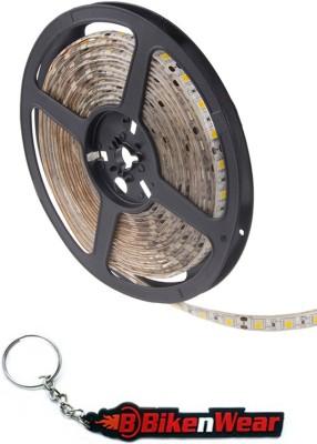 BikeNwear Car/Bike LED Cuttable Strip Light 5 Meter-12V (Blue) & Bikenwear Keyring Combo