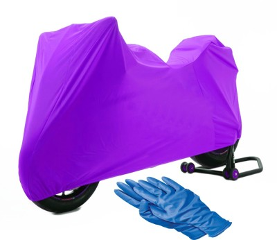 Time 1 TVS Max Purple Cover, 1 With Rubber Gloves Combo