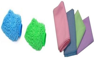 Retina 4x Washing cloth,2x washing gloves Combo