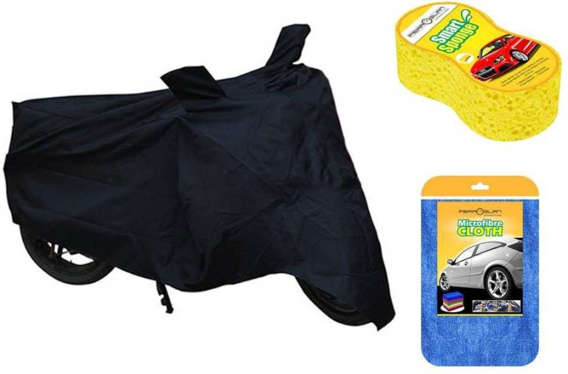 Raaisin 1 Bike cover, 1 Cleaning Cloth, 1 Bike Wash Sponge Combo
