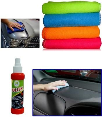 Auto Pearl 1Pcs Micro Fiber Cloth, 1Pcs 120ml Car Polish Spray Combo