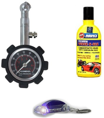 Coido 1 Tyre Pressure Gauge, 1 Shampoo, 1 Key Chain Combo