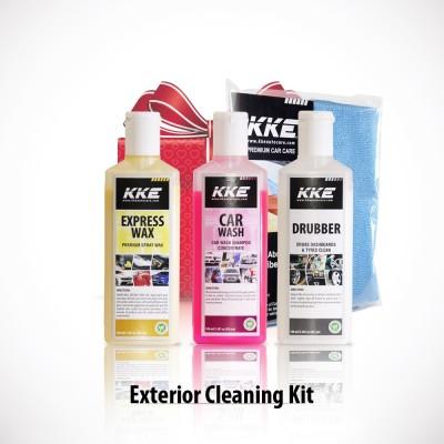 KKE 1 Car Wash Shampoo, 1 KKE Drubber, 1KKE Express Wax, 1Microfibre Towel Combo