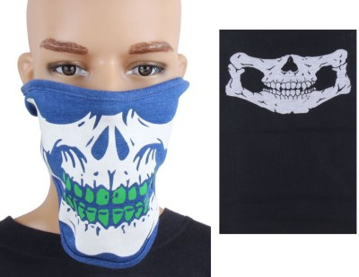 Sushito Blue With White Print Face Mask Combo Bandana Combo