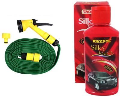 Waxpol 1 Silky Touch Silicone Resin Polish 150ml, 1 Pressure Washing Gun Combo