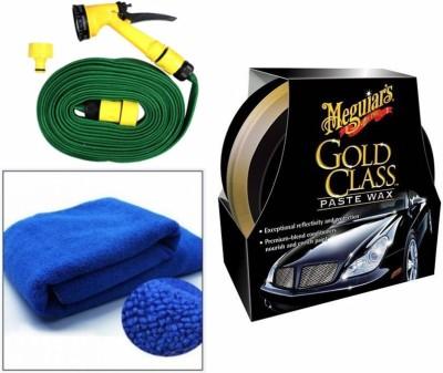 Meguiar's 1 Meguiars Gold Class Paste Wax Polish-449ml, 1 Microfiber Cloth, 1 Spray Gun, 1 Spray Gun Combo