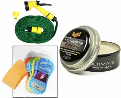 Meguiar's 1 Meguiars Ultimate Paste Wax Polish- 450gm, 1 Magic Sponge, 1 Spray Gun, 1 Spray Gun Combo
