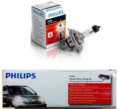 Philips 1 Wiring kit, 1 Pair Philips Lights, High Power Lamps Combo