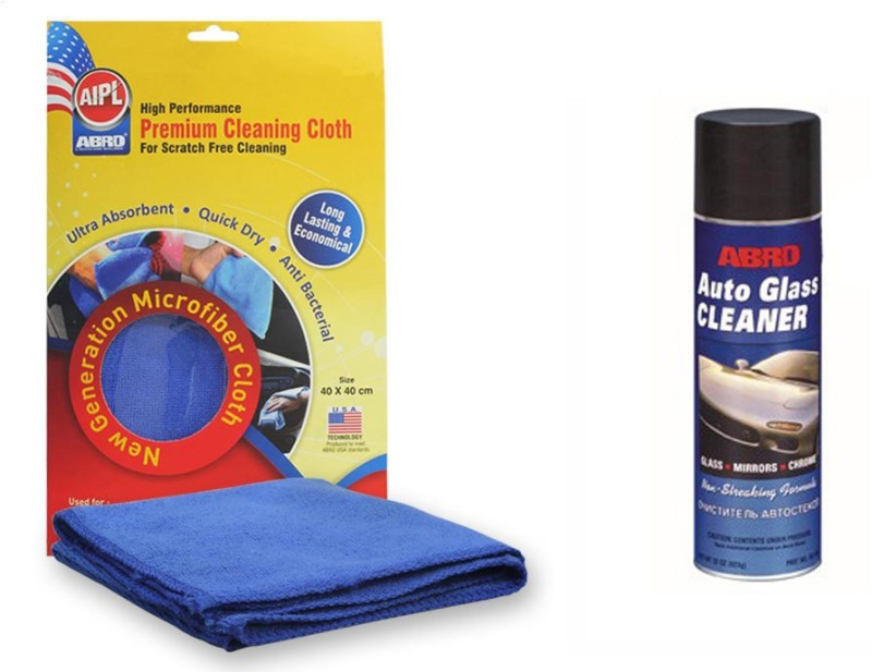 Abro 1 Auto Glass Cleaner GC-450 (623 gm), 1 Microfiber Cloth Combo